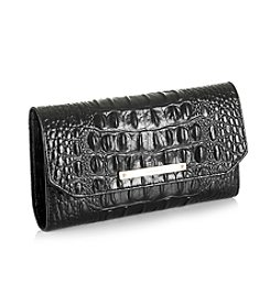 Brahmin Black Soft Melbourne Checkbook Wallet
