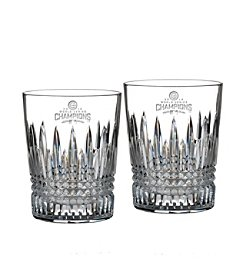 Waterford® MLB® Chicago Cubs 2016 World Series Champs Set of 2 Lismore Diamond Double Old Fashioned Glasses
