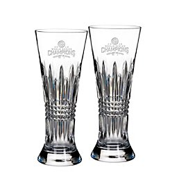 Waterford® MLB® Chicago Cubs 2016 World Series Champs Set of 2 Lismore Diamond Pilsner Glasses