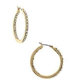 Gloria Vanderbilt™ Medium Inside Out Hoop Earrings