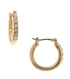 Gloria Vanderbilt™ Small Pave Hoop Earrings