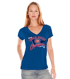 Majestic® MLB® Chicago Cubs Women's Slubbed V-Neck Tee