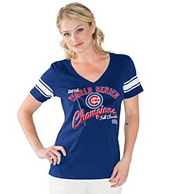 Majestic® MLB® Chicago Cubs Women's Distressed V-Neck Tee