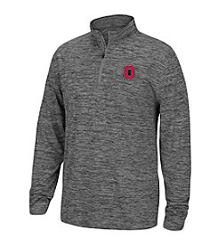 J. America® NCAA® Ohio State Buckeyes Men's Heathered 1/4 Zip Pullover