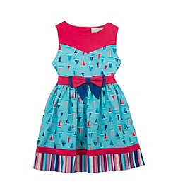 Rare Editions® Girls' 2T-6X Sailboat Printed Dress