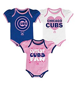 Majestic Baby Outerstuff MLB® Chicago Cubs Baby Lil Fanatic 3-Piece Set