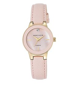 Anne Klein® Blush Diamond Dial Strap Watch