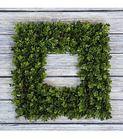 Pure Garden Square Boxwood Wreath