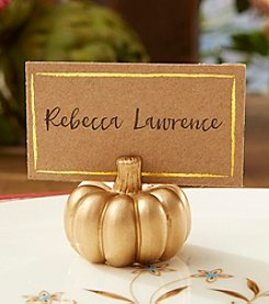 Kate Aspen Set of 12 Gold Pumpkin Place Card Holders