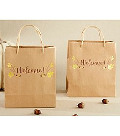 Kate Aspen Set of 12 Gold Foil Fall Welcome Bags