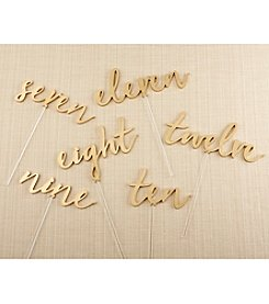 Kate Aspen Gold Calligraphy 7-12 Table Numbers