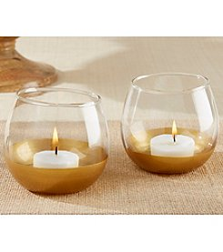 Kate Aspen Set of 12 Gold Dipped Glass Votive Holders