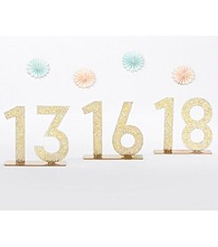 Kate Aspen Gold Glitter Acrylic 13-18 Table Numbers