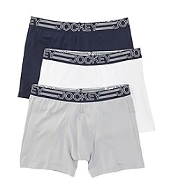 Jockey® Men's 3-Pack Active Microfiber Boxer Briefs