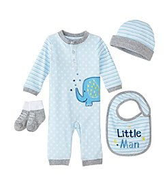 Cuddle Bear® Baby Boys' 4 Piece Elephant Gifting Set