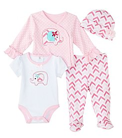 Cuddle Bear® Baby Girls' 4 Piece Elephant Gifting Set