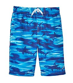 Exertek® Boys' 8-20 Blue Shark Swim Trunks