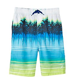 Exertek® Boys' 8-20 Faded Palm Swim Trunks