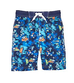 Exertek® Boys' 4-7 Funny Fish Printed Swim Trunks