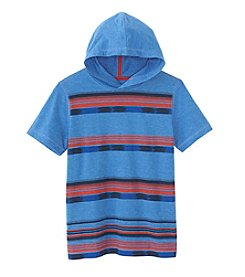 Ruff Hewn Boys' 8-20 Short Sleeve Striped Hoodie