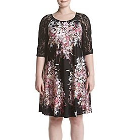 Gabby Skye® Plus Size Ity Lace Shift Dress