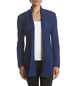 Studio Works® Petites' Solid Fan Tail Cardigan