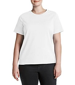 Studio Works® Plus Size Solid Crew Neck Tee