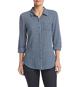 Ruff Hewn Button Front Gauze Shirt