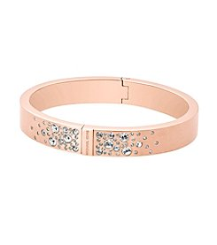 Michael Kors® Rose Goldtone Pave Detail Bangle Bracelet