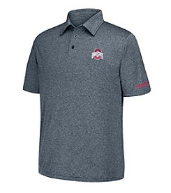 J. America® NCAA® Ohio State Buckeyes Men's Heathered Polo