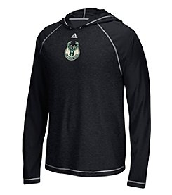 adidas® NBA® Milwaukee Bucks Men's Logo Hooded Long Sleeve Pullover