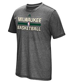 adidas® NBA® Milwaukee Bucks Men's Aeroknit Short Sleeve Tee