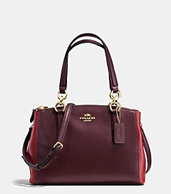 COACH MINI CHRISTIE CARRYALL IN COLORBLOCK LEATHER
