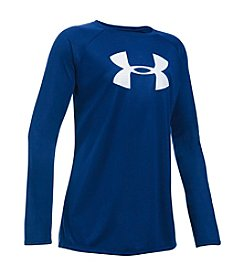 Under Armour® Girls' 7-14 Big Logo Long Sleeve Tee