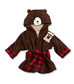 Baby Aspen Beary Bundled Brown and Red Hooded Robe