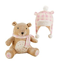 Baby Aspen Baby Girls' Claire the Bear Plush Plus Hat for Baby