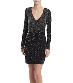 Xscape Beaded Knit Dress