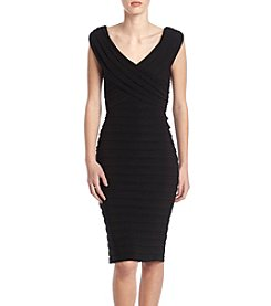 Xscape Tucked Layer Dress