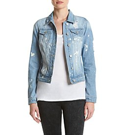 Boom Boom Splattered Denim Jacket