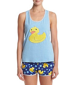 PJ Couture® Rubber Ducky Short Pajama Set