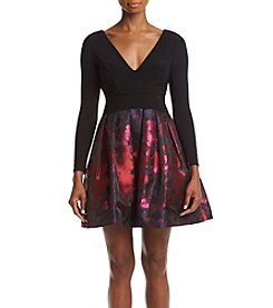 Xscape Floral Skirt Dress