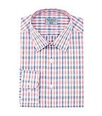 John Bartlett Statements Men S Flexible Collar Stretch Slim Fit Spread Grid Dress Shirt