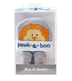 Cuddle Bear® Baby Boys Lion Cap And Sock Set