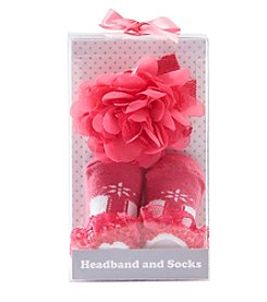 Cuddle Bear® Baby Girls' Hair And Sock Set