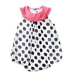 Cuddle Bear® Baby Girls' Polka-Dotted Bubble Romper
