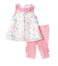 Cuddle Bear® Baby Girls' Butterflies Capri Set