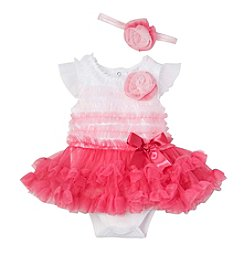 Cuddle Bear® Baby Girls' 2-Piece Photo Ombre Dress