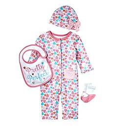 Cuddle Bear® Baby Girls' 4 Piece Pretty Perfect Gifting Set
