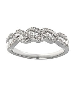 0.50 ct. t.w. Weave Diamond Ring in 10K White Gold