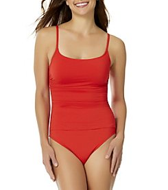 Anne Cole® Shirred Lingerie Maillot One-Piece